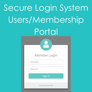 Secure login system and membership portal development icon
