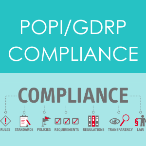 Popi and gdpr service icon on aptfin homepag